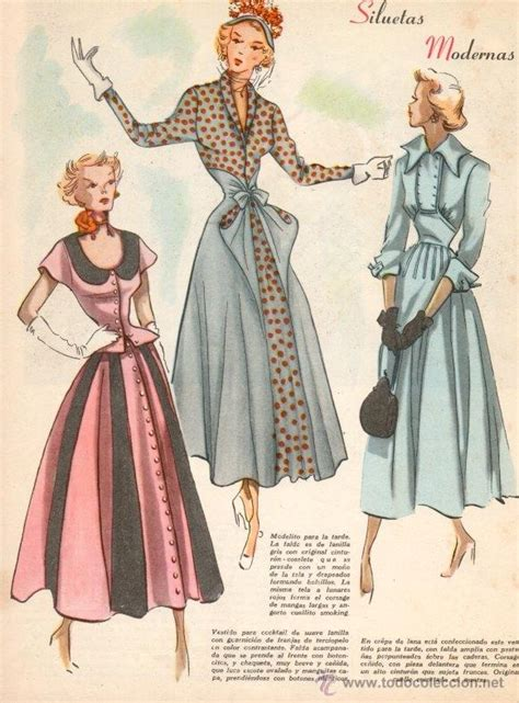 imagenes retro fashion lote de 8 bocetos de moda impresos a 241 os 50 ver fotos