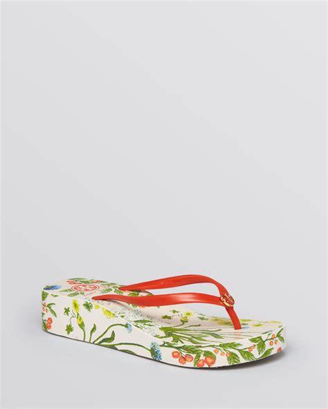 Burch Sandal Sendal Jepit Flip Flop Flower Bunga Original Ori burch platform wedge flip flops thandie in lyst