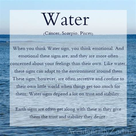 water signs of the zodiac zodiac pinterest