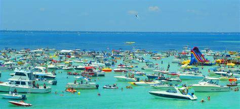 boat rental crab island destin fl must visit crab island is a true treasure of the emerald