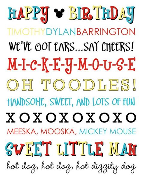 printable mickey mouse fonts diy printable mickey mouse subway art by laurenloulolly on