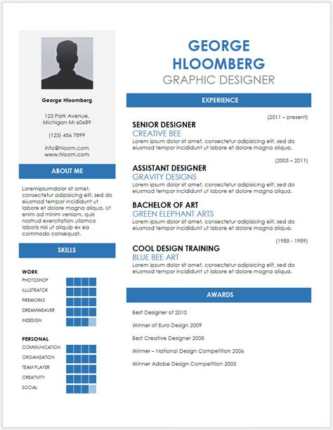 Best Infographic Resume Builder by 12 Free Minimalist Professional Microsoft Docx And Google
