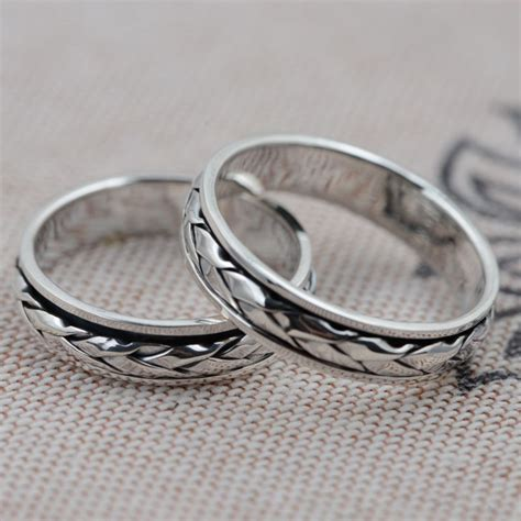thai silver wholesale s925 sterling silver ring woven