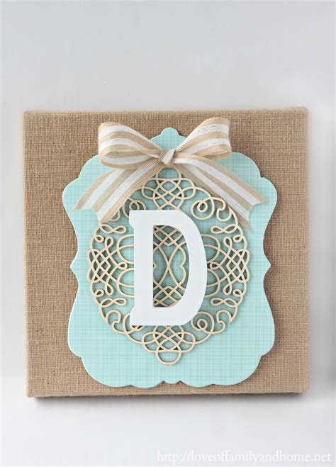 monogrammed home decor diy burlap monogram michaels hometalk in store