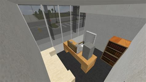 office building interior operation realism minecraft project