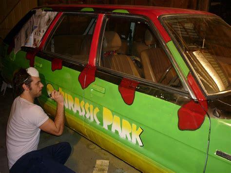 jurassic park tour car jurassic park fan recreates first movie jeep says it s