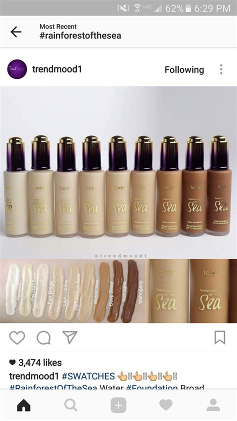 tarte foundation colors tarte has 9 new shades in rainforest of the sea foundation