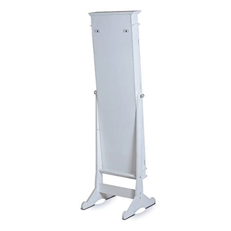 swivel mirror jewelry armoire large white frame tall floor standing swivel mirrored