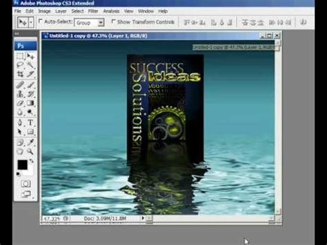 tutorial photoshop reflection effect creating water reflections in photoshop tutorial youtube