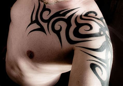 simple shoulder tattoos for men 69 traditional tribal shoulder tattoos