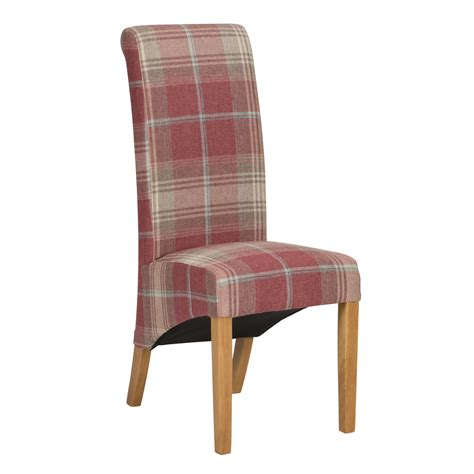 ruby check dining chair pair