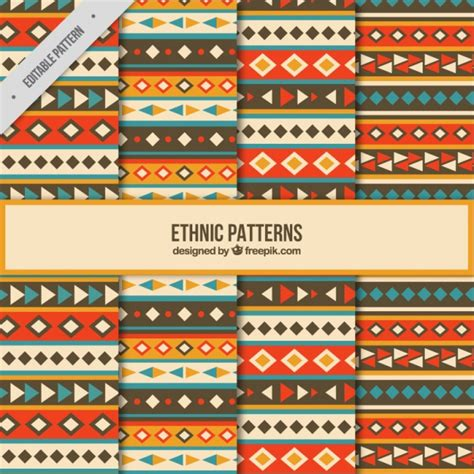 cute ethnic pattern eight cute ethnic patterns vector free download