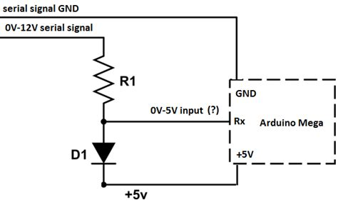 12v to 7 5 v resistor converting serial signal 12v 5v and reading it using arduino electrical engineering stack