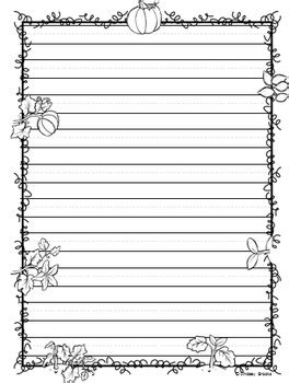autumn writing paper fall autumn writing paper by minds and hearts tpt