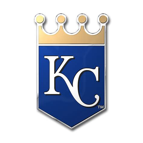 kansas city royals colors kansas city royals color emblem car or truck decal team