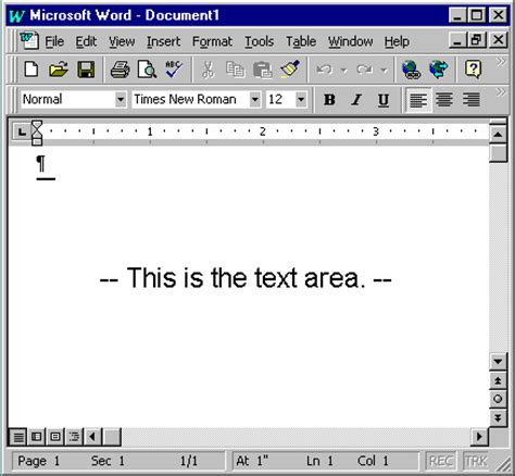 printable area in word 2007 word 97 tutorial lesson 1 online computer training