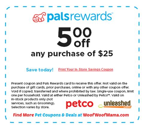 printable natural balance dog food coupons petco coupon for 5 off any 25 in store purchase 10 5 6