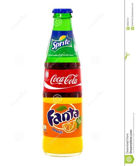Coca Colaspritefanta coca cola fanta and sprite in one bottle editorial stock
