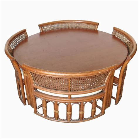 rattan and wicker dining coffee table with chairs