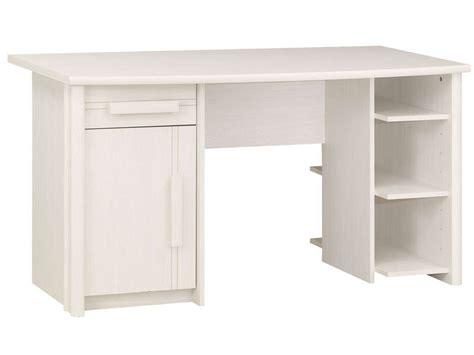 bureau chene blanchi bureau 1 porte 1 tiroir montana coloris fr 234 ne blanchi