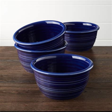 farmhouse blue cereal bowls set   reviews crate