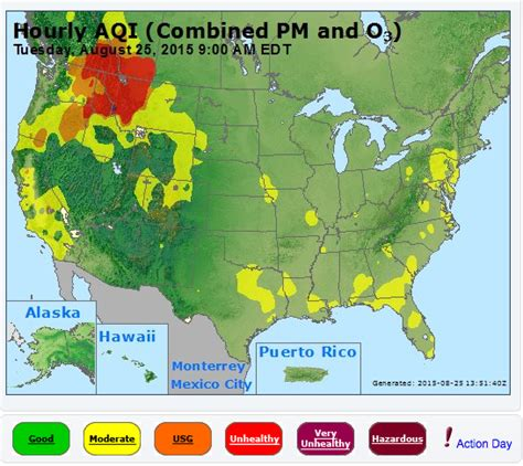map of oregon wildfires august 2015 smoke map and flag warnings aug 25 2015 wildfire