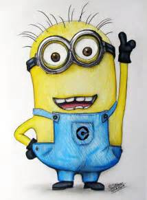 minion drawings minion fan drawing despicable me by lethalchris on