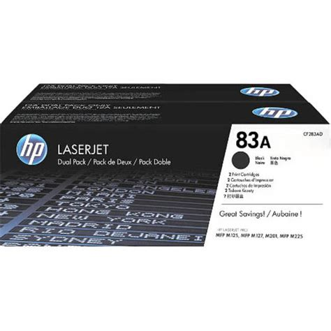 Toner Hp 83a Original by Original Black Hp 83a Toner Cartridge Twinpack
