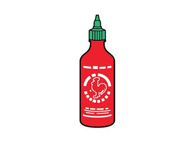 sriracha bottle vector sriracha simplified by 86era dribbble