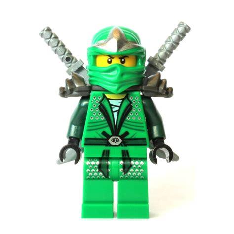 the lego ninjago lego green ninjago lloyd zx minifigure with 2 swords