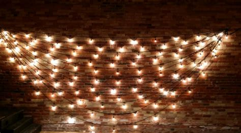String Lights Wall - allcargos tent event rentals inc