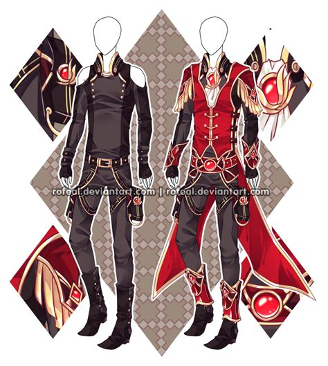 anime boy outfit ideas auction closed by rofeal on deviantart men fashion ref