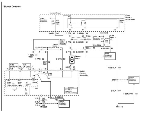 resistor heater circuit i a 2005 chevy equinox i changed the blower motor and the resistor still nothing