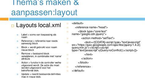 magento layout xml reference magento cursus theme opzetten beheren