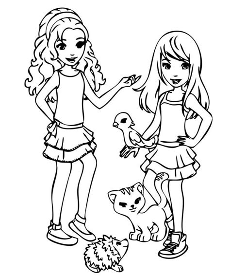 Lego Friend Coloring Pages lego friends printable coloring pages coloring home
