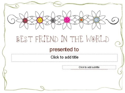 Best Friend Certificate Templates templates certificates best friend award certificate other