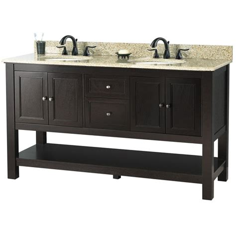 home depot granite bathroom vanity foremost gazette 61 in w x 22 in d double bath vanity in