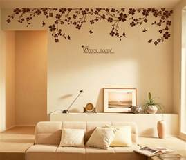 wall decor sticker decoration vinyl removeable art mural classic black flowers removable wall decor wall stickers