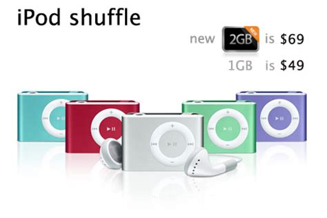 Apples Ipod Shuffle Now Out In A Selection Of Colours by 1gb Ipod Shuffle Is Now 49 And New Model 2gb For 69