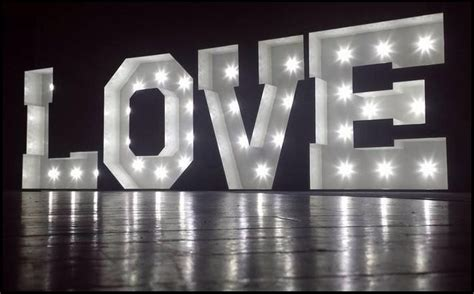 big letters with lights light up letters south wales