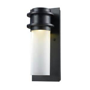 outdoor led wall lighting titan lighting 1 light outdoor matte black led wall sconce