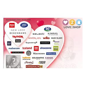 Love To Shop Gift Cards - love2shop vouchers free delivery buy now use in 20 000 stores