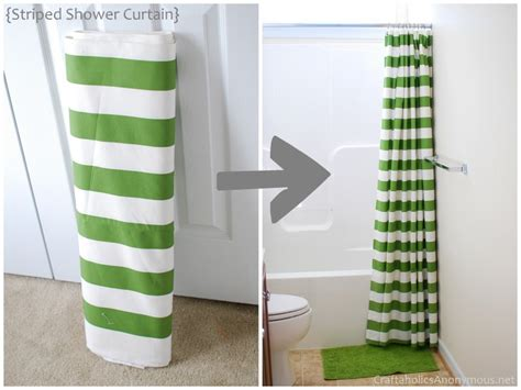 Green Striped Curtains Inspiration Decorations Diy Shower Curtain Ideas With Green Striped Curtain Design Inspiration Cheerful