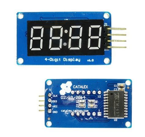 4 Bits Tm1637 Digital Led Display Module With Clock Arduino tm1637 4 bits digital led display module with clock display for arduino robu in indian