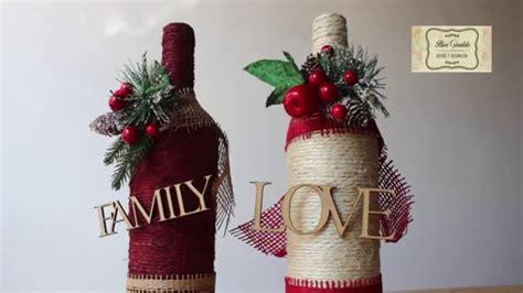 como decorar botellas en vidrio como decorar botellas de vidrio con cabuya manualidades
