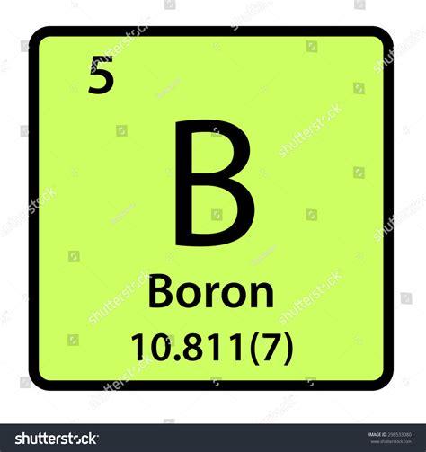 Boron Periodic Table by Element Boron Periodic Table Stock Illustration 298533080