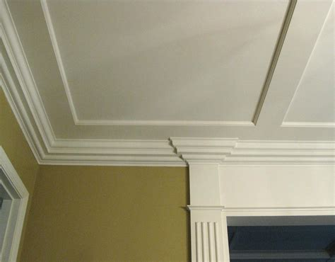 ceiling crown moulding coffered ceilings fluted casing door pediment crown