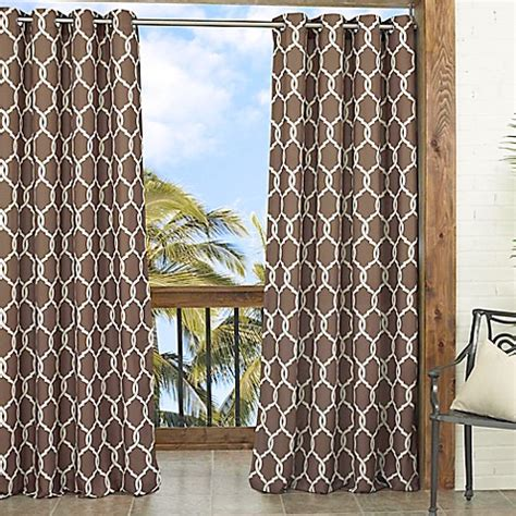 brown trellis curtains parasol totten key trellis 84 inch window curtain panel