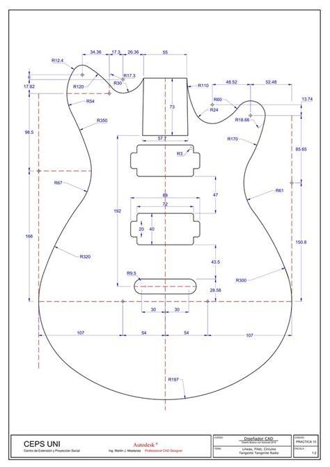 M Drawing In Autocad by Guitarra Autocad Autocad のおすすめアイデア 25 件以上