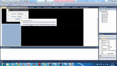 visual basic advanced tutorial visual basic 2010 tutorial virtual os advanced login